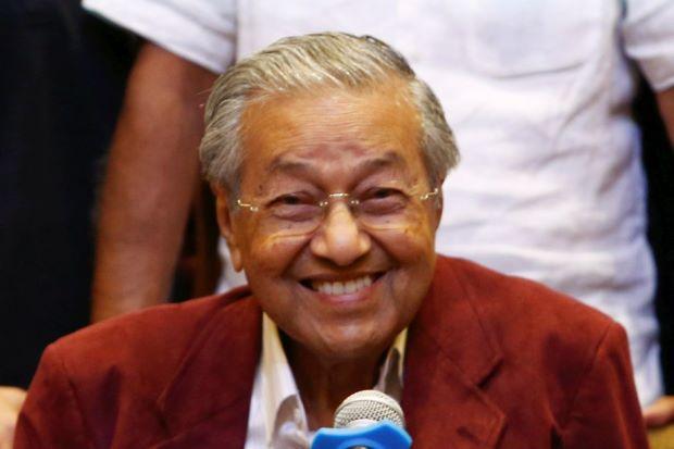 Prime Minister congratulates H. E. Tun Dr. Mahathir Mohamad, Prime Minister of Malaysia