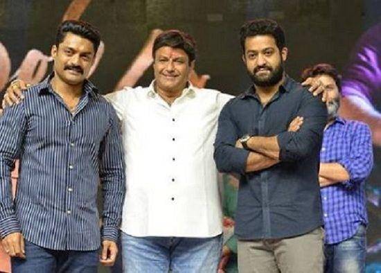 Uncle Nandamuri Balakrishna graces Jr NTR's Aravindha Sametha success meet