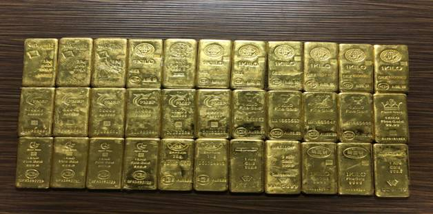 DRI continues to crackdown on Gold Smuggling – 66 KGof smuggled gold valued at about Rs. 21 crore seized